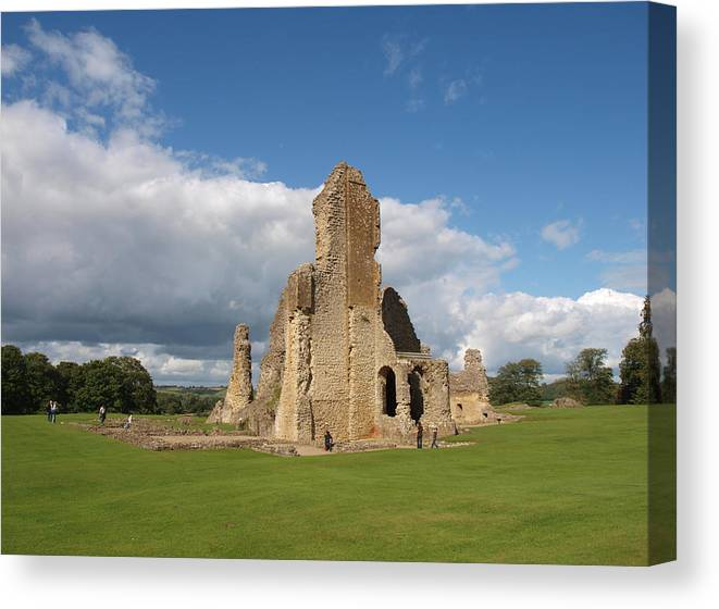 Castle Canvas Print featuring the photograph Sherborne Old Castle - 2 by Michaela Perryman