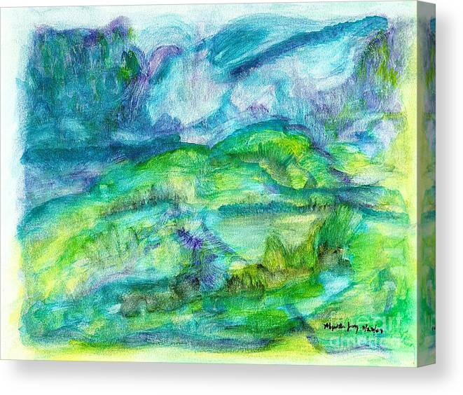 Abstract Canvas Print featuring the painting The Eydes Of March by Myrtle Joy