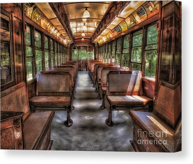 Number Canvas Print featuring the photograph Vintage Trolley No. 948 by Susan Candelario