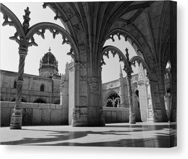 Monastery Canvas Print featuring the photograph Jeronimos Monastery by Luis Esteves