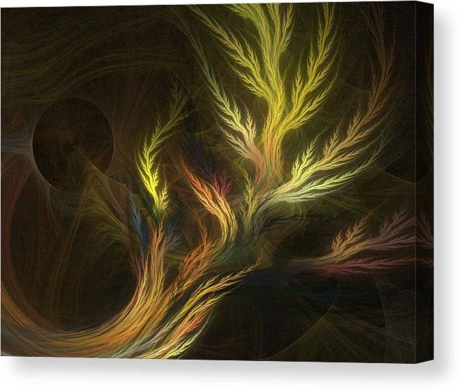 Fractal Flames Canvas Print featuring the digital art Grass by Michele Caporaso