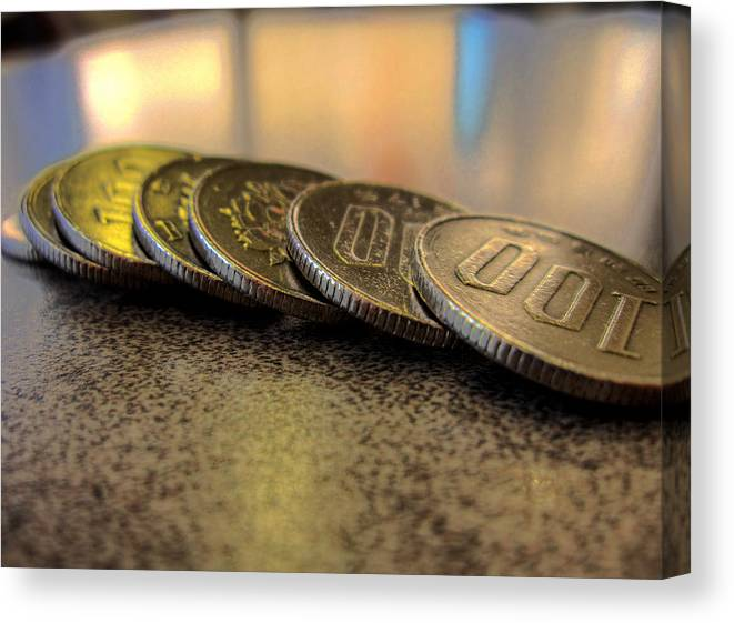 Canvas Print featuring the photograph Coin by John Siwicki