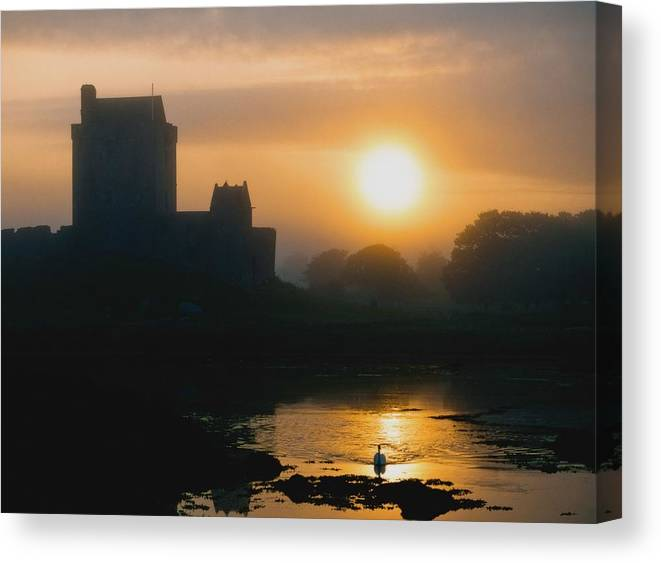 Outdoors Canvas Print featuring the photograph Dunguaire Castle, Kinvara, Co Galway by The Irish Image Collection