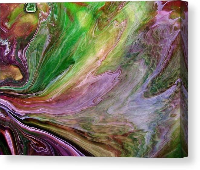Abstract Art Canvas Print featuring the painting Green Way Out by G Stewart