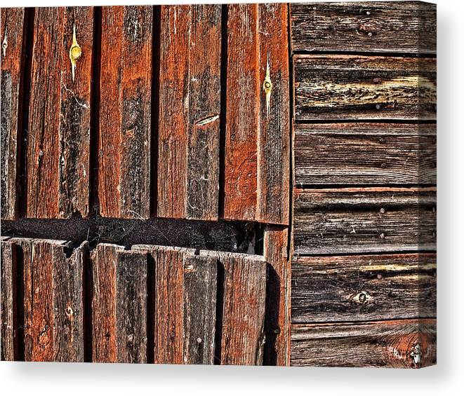 Abstract Canvas Print featuring the photograph Old Wooden Wall by Jouko Lehto