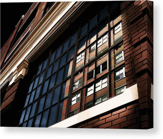 Architecture Canvas Print featuring the digital art Reflection 1409 by Douglas Pittman