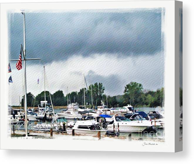 Erie Canvas Print featuring the photograph Storm Over Lake Erie by Joan Minchak