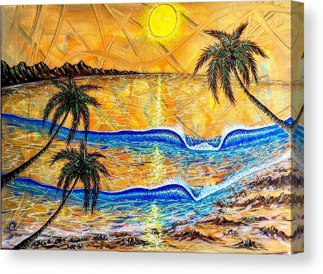 Sunset Canvas Print featuring the painting Breathe In The Moment by Paul Carter