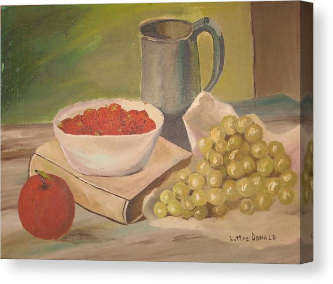 Still Life Canvas Print featuring the painting A Still Life by L A Raven