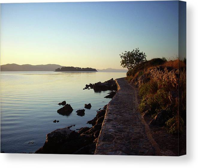 Sea Canvas Print featuring the photograph An Early Walk by Maja Smid