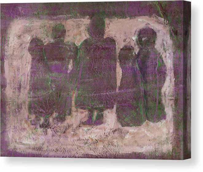 Ancestors Canvas Print featuring the painting Ancestors by Wayne Potrafka