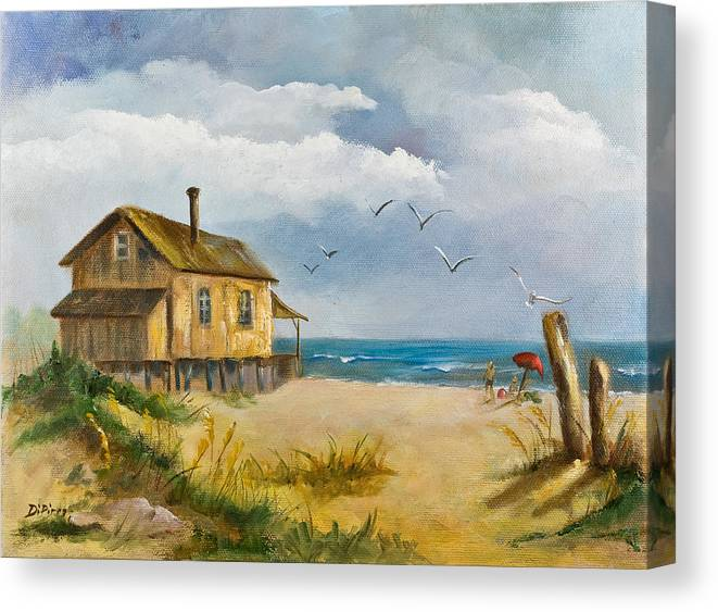 Beach Canvas Print featuring the painting Beach Getaway by Joni Dipirro