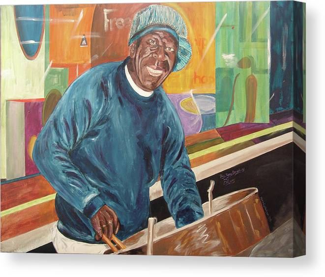 Kevin Callahan Canvas Print featuring the painting Bing Bang Broadway Blues by Kevin Callahan