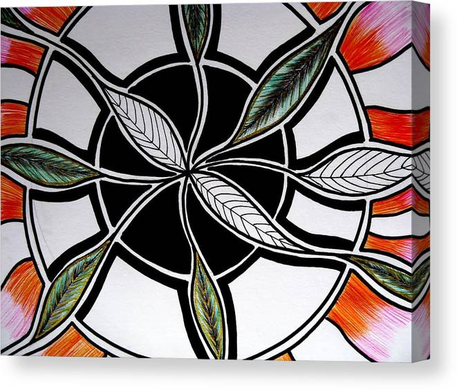 Australian Abstract Canvas Print featuring the drawing Branching Out by Joanne Seath