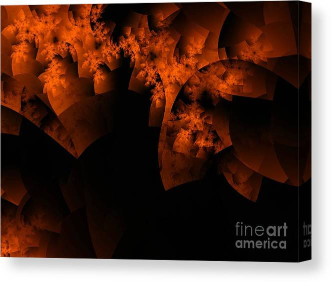 Coral Reef Canvas Print featuring the digital art Coral Reef by Ron Bissett