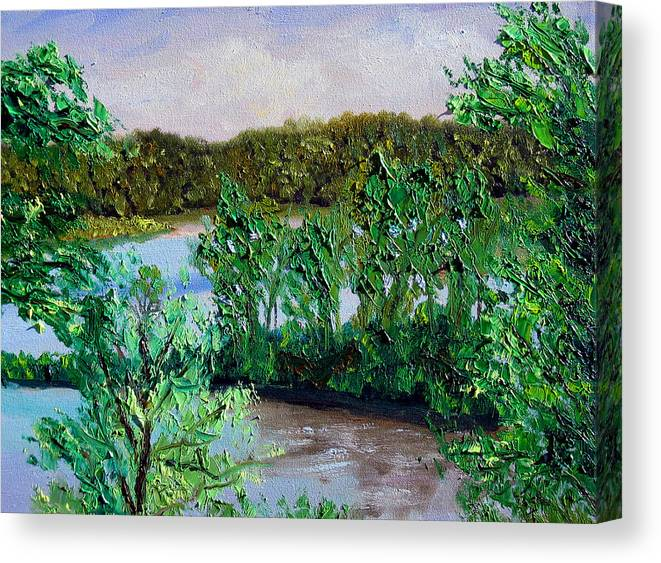 Original Oil On Canvas Canvas Print featuring the painting Ecp 5-26 by Stan Hamilton