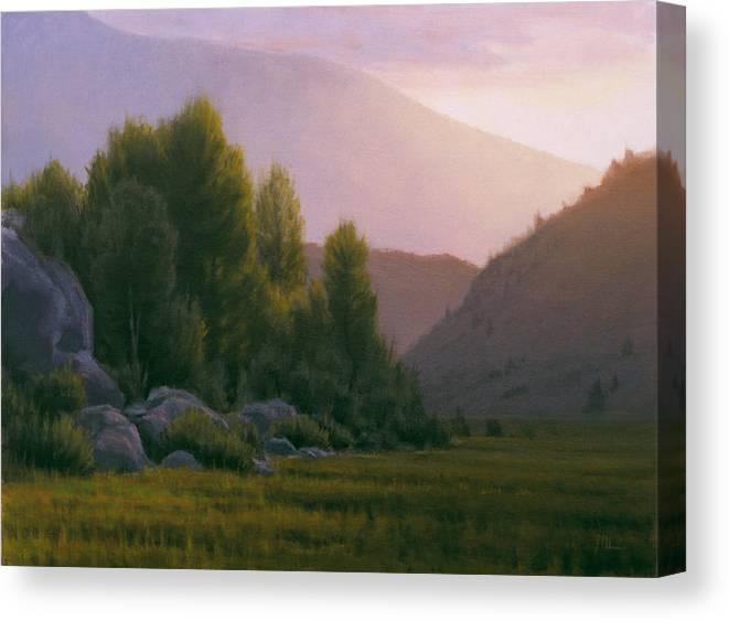 Landscape Canvas Print featuring the painting Evening Grace by Joe Mancuso