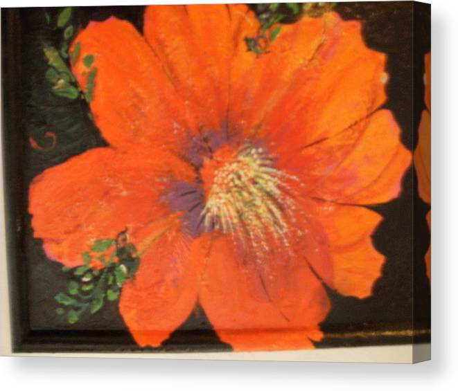 Redflower Canvas Print featuring the painting Every Day Is A Holiday by Anne-Elizabeth Whiteway