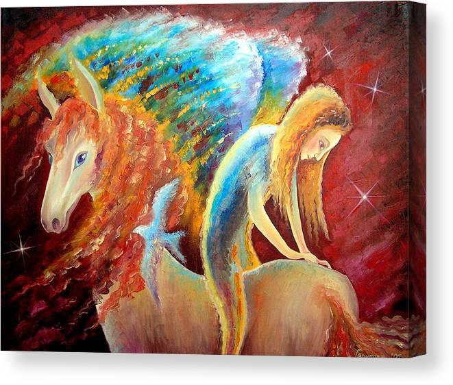 Faith Canvas Print featuring the painting Faith by Liliya Garipova