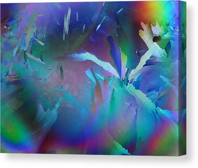 Frost Canvas Print featuring the photograph Helter Skelter Frost by Carol Berget