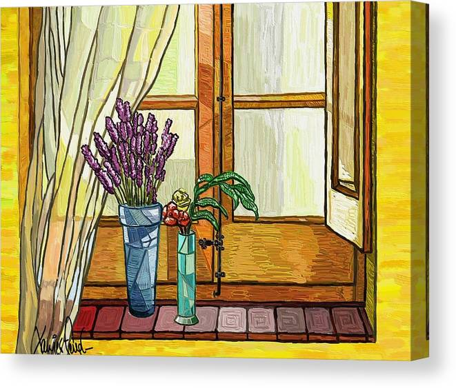 Still Life Canvas Print featuring the painting La Finestra by Xavier Ferrer