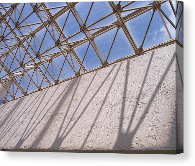 Beams Canvas Print featuring the photograph Lines And Shadows IIi by Anna Villarreal Garbis