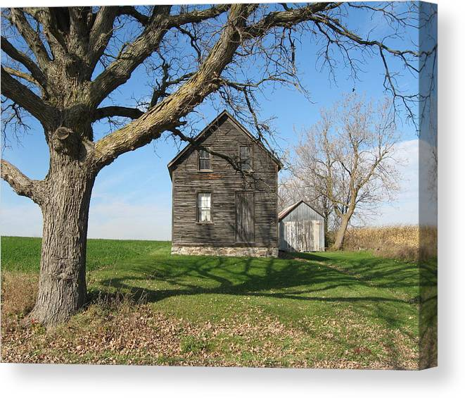 Farmhouses Canvas Print featuring the photograph Lock The Door by Richard Stanford