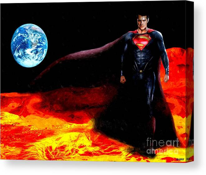 Man Of Steel Canvas Print featuring the mixed media Man Of Steel by Daniel Janda