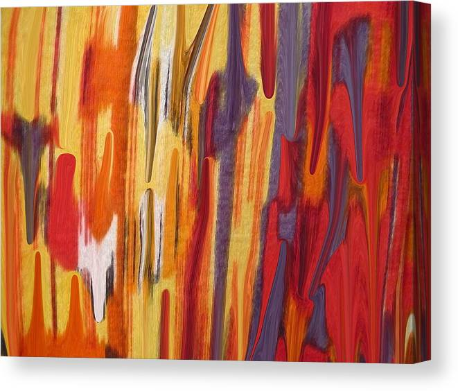Abstract Canvas Print featuring the painting Melting Pot by Florene Welebny