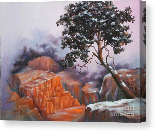 Landscape Canvas Print featuring the painting Nature At Rocky Kingdom by Marta Styk