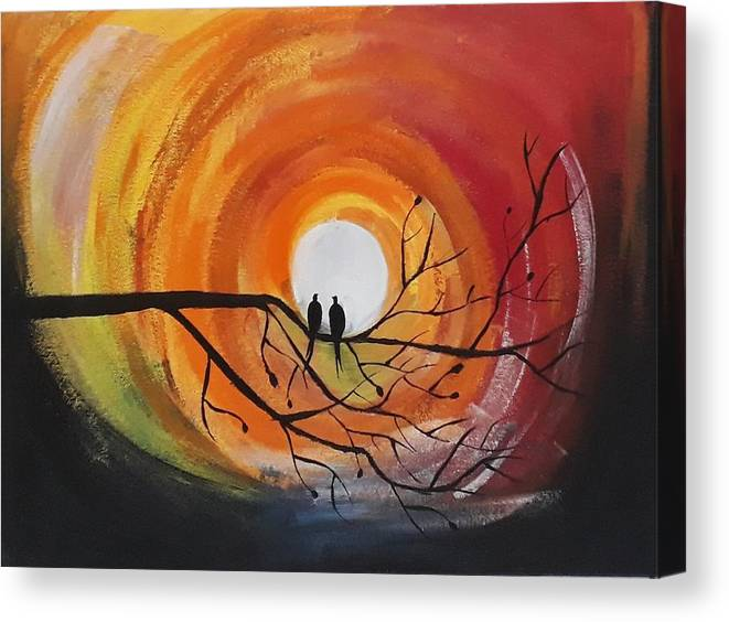 9293c2370 Canvas Print featuring the painting Nature Painting by Bhagyashree Basfore