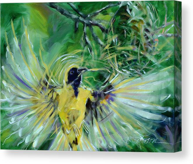 Nature Canvas Print featuring the painting Nest 2 by Ron Patterson