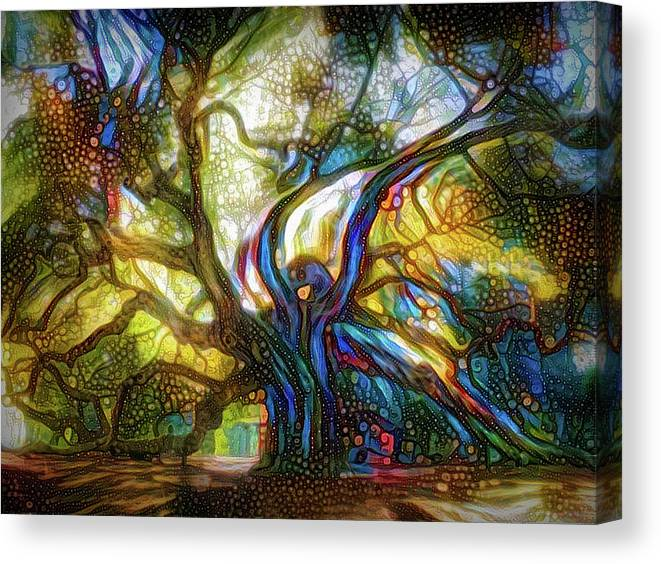 Magical Tree Canvas Print featuring the mixed media Old Tree by Lilia D