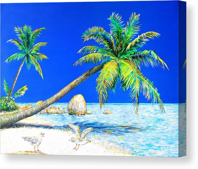 Landscape Canvas Print featuring the painting Palm Beach Number Five by Daniel House