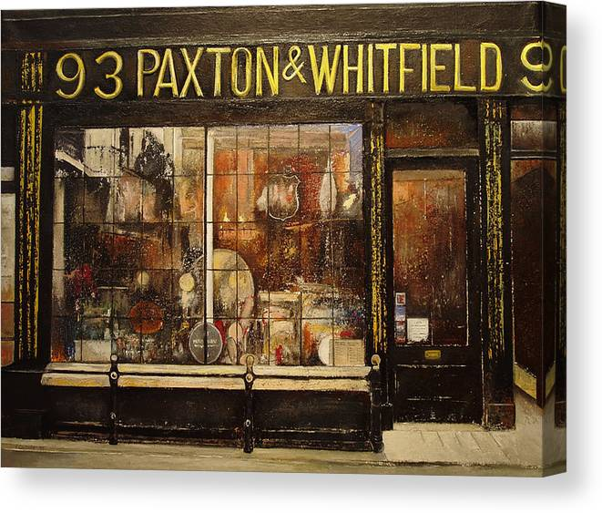 Paxton Canvas Print featuring the painting Paxton Whitfield .london by Tomas Castano