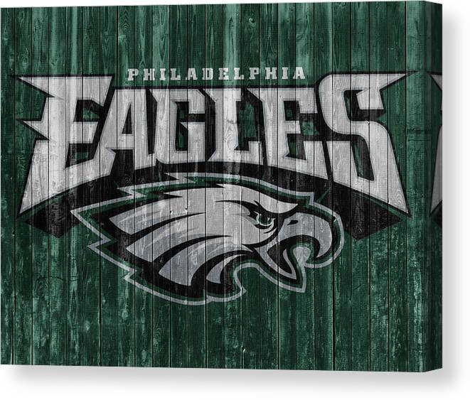 953cf604f7c Philadelphia Eagles Barn Door Canvas Print featuring the mixed media Philadelphia  Eagles Barn Door by Dan