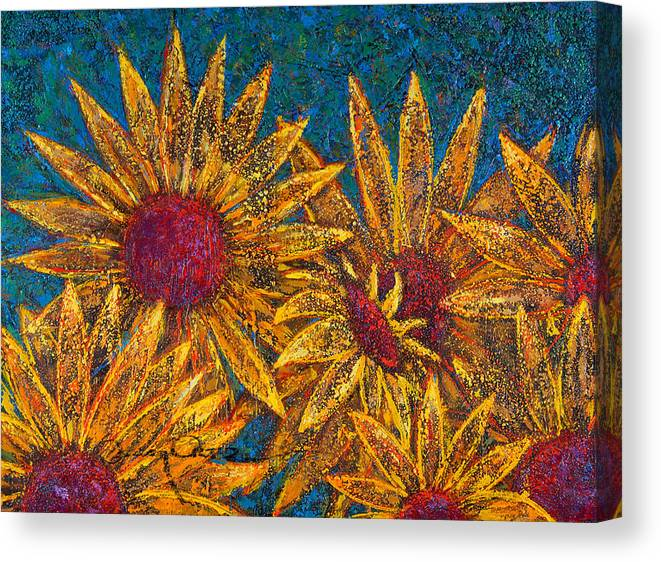 Flowers Canvas Print featuring the painting Positivity by Oscar Ortiz