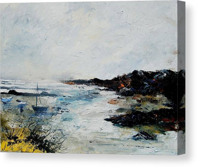 Sea Canvas Print featuring the painting Seascape 68 by Pol Ledent