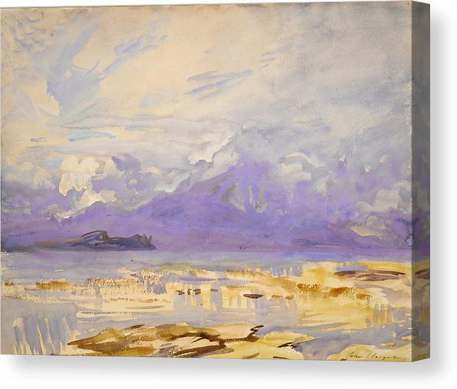 John Singer Sargent Canvas Print featuring the painting Sirmione by John Singer Sargent