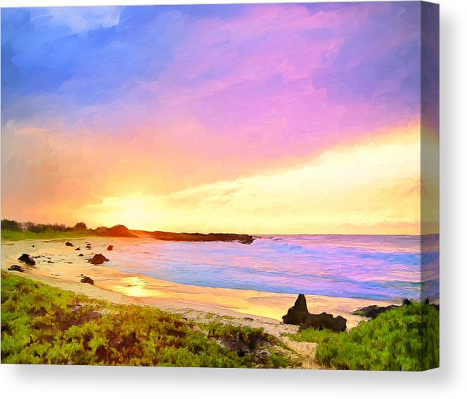 Sunset Canvas Print featuring the painting Sunset Walk by Dominic Piperata