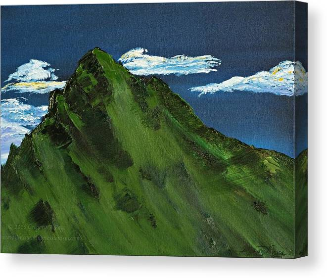 Switzerland Canvas Print featuring the painting Swiss Alp by Gregory Allen Page