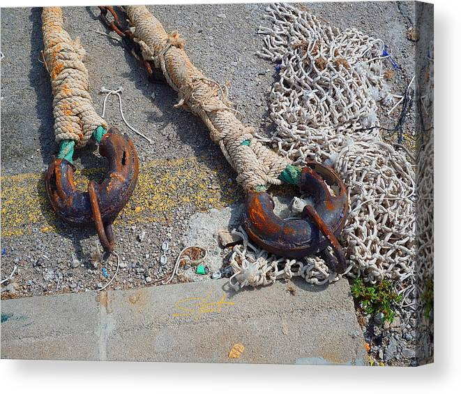 Fishing Net Canvas Print featuring the photograph Symphony In White by Charles Stuart