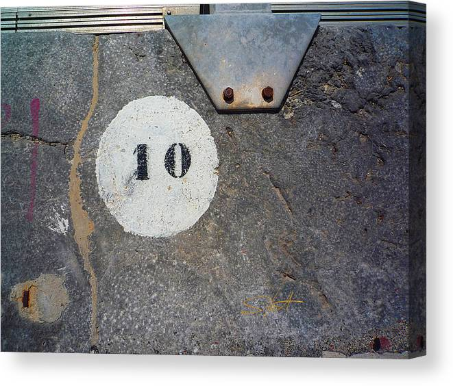 Number Canvas Print featuring the photograph Ten by Charles Stuart