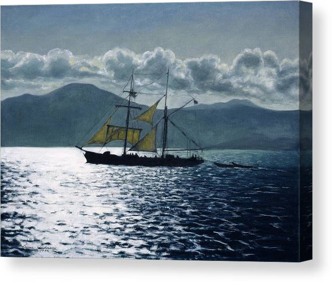 Ship Canvas Print featuring the painting The Golden Plover by Lance Anderson
