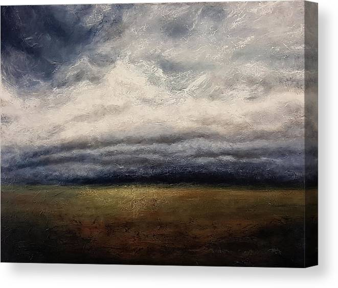 Limbo Canvas Print featuring the painting Waiting In Limbo by Cindy Johnston