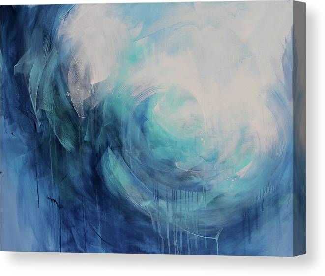 Abstract Canvas Print featuring the photograph Wild Ocean by Tracy Male