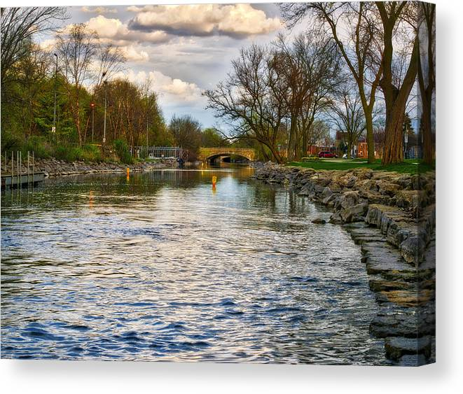 Yahara River Canvas Print featuring the photograph Yahara River, Madison, Wi by Steven Ralser