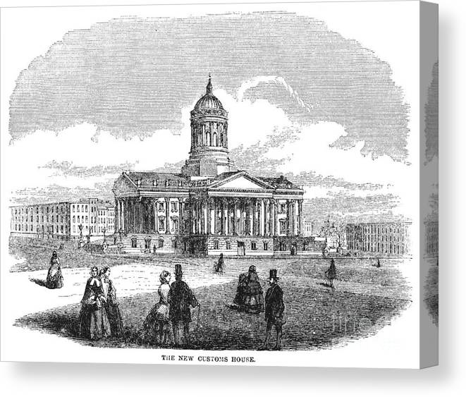 1850 Canvas Print featuring the drawing Charleston, 1857 by Granger