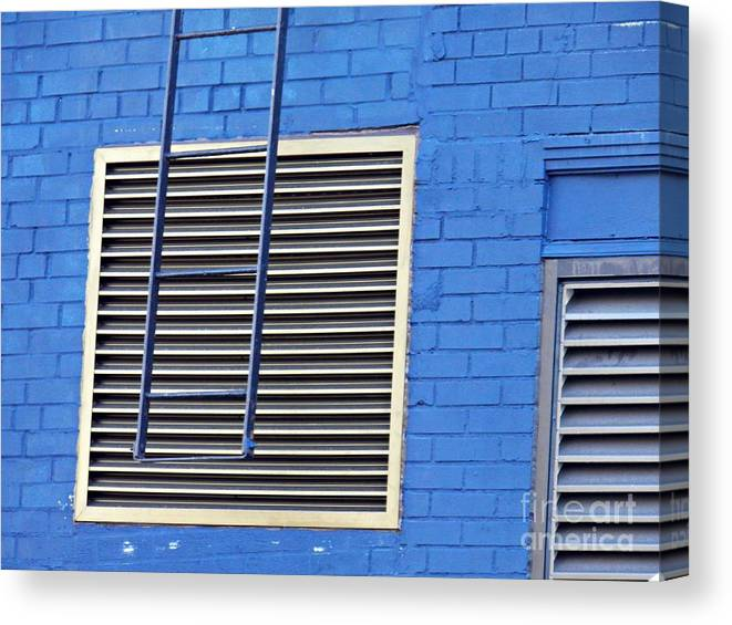 Building Canvas Print featuring the photograph Blue Wall 4 by Sarah Loft
