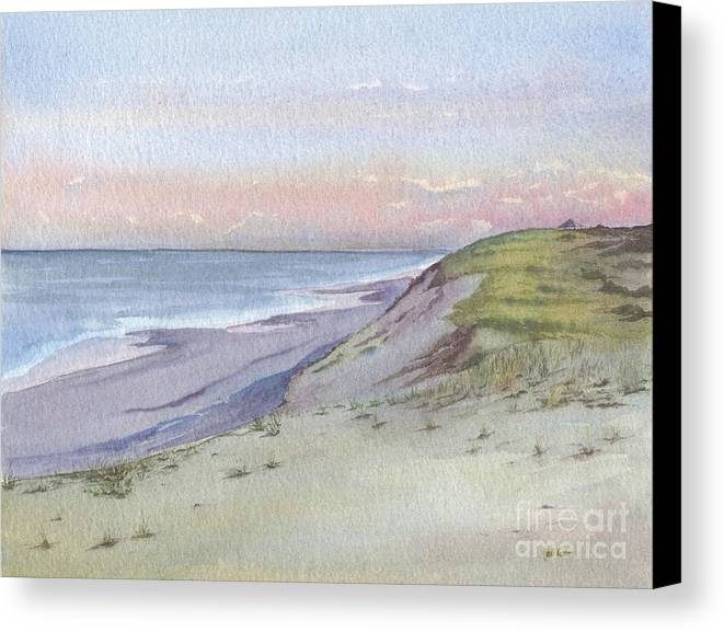 Watercolor Canvas Print featuring the painting Marconi View by Heidi Gallo
